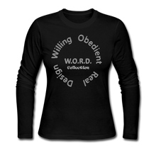 Load image into Gallery viewer, W.O.R.D. Long Sleeve Jersey T-Shirt - black