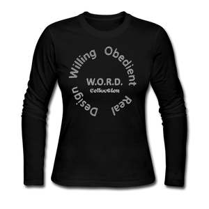 W.O.R.D. Long Sleeve Jersey T-Shirt - black