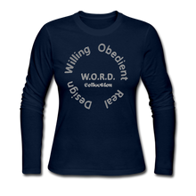Load image into Gallery viewer, W.O.R.D. Long Sleeve Jersey T-Shirt - navy