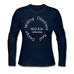 W.O.R.D. Long Sleeve Jersey T-Shirt - navy
