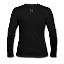 Load image into Gallery viewer, NO FEAR Women's Long Sleeve Jersey T-Shirt - black