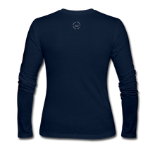 Load image into Gallery viewer, NO FEAR Women's Long Sleeve Jersey T-Shirt - navy