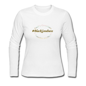 Black Goodness Women's Long Sleeve Jersey T-Shirt - white