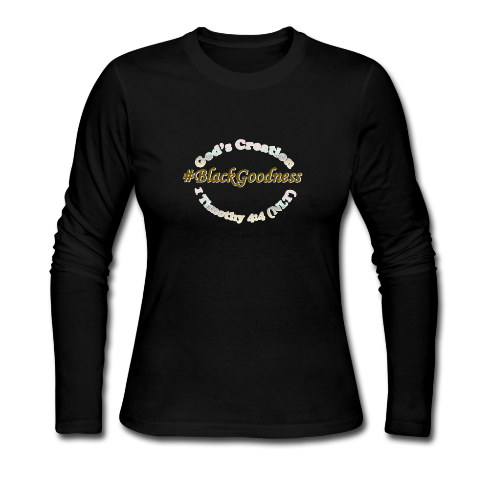 Black Goodness Women's Long Sleeve Jersey T-Shirt - black