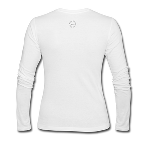 Proverbs 31 Loc Lady Women's Long Sleeve Jersey T-Shirt - white