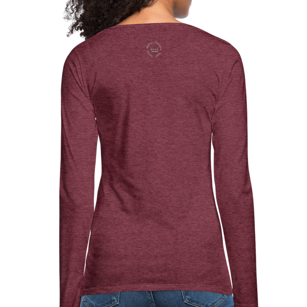 Proverbs 31 Loc Lady Women's Premium Long Sleeve T-Shirt - heather burgundy