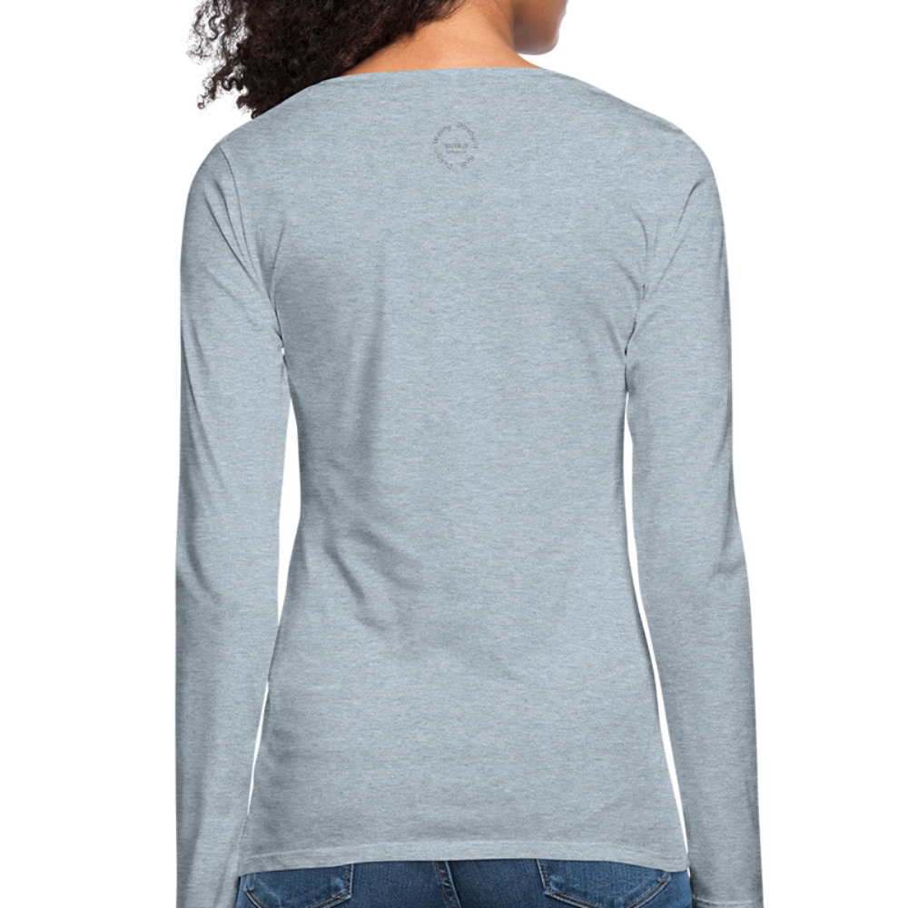 Proverbs 31 Loc Lady Women's Premium Long Sleeve T-Shirt - heather ice blue