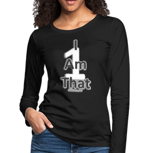 That One Women's Premium Slim Fit Long Sleeve T-Shirt - black