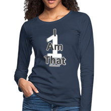 Load image into Gallery viewer, That One Women's Premium Slim Fit Long Sleeve T-Shirt - navy