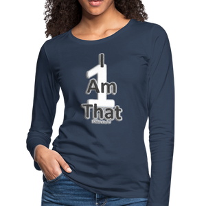 That One Women's Premium Slim Fit Long Sleeve T-Shirt - navy