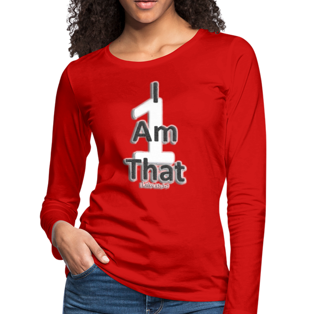 That One Women's Premium Slim Fit Long Sleeve T-Shirt - red