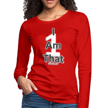 Load image into Gallery viewer, That One Women's Premium Slim Fit Long Sleeve T-Shirt - red