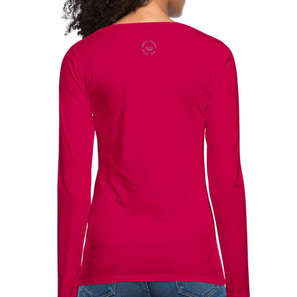 That One Women's Premium Slim Fit Long Sleeve T-Shirt - dark pink
