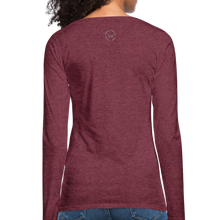 Load image into Gallery viewer, That One Women's Premium Slim Fit Long Sleeve T-Shirt - heather burgundy
