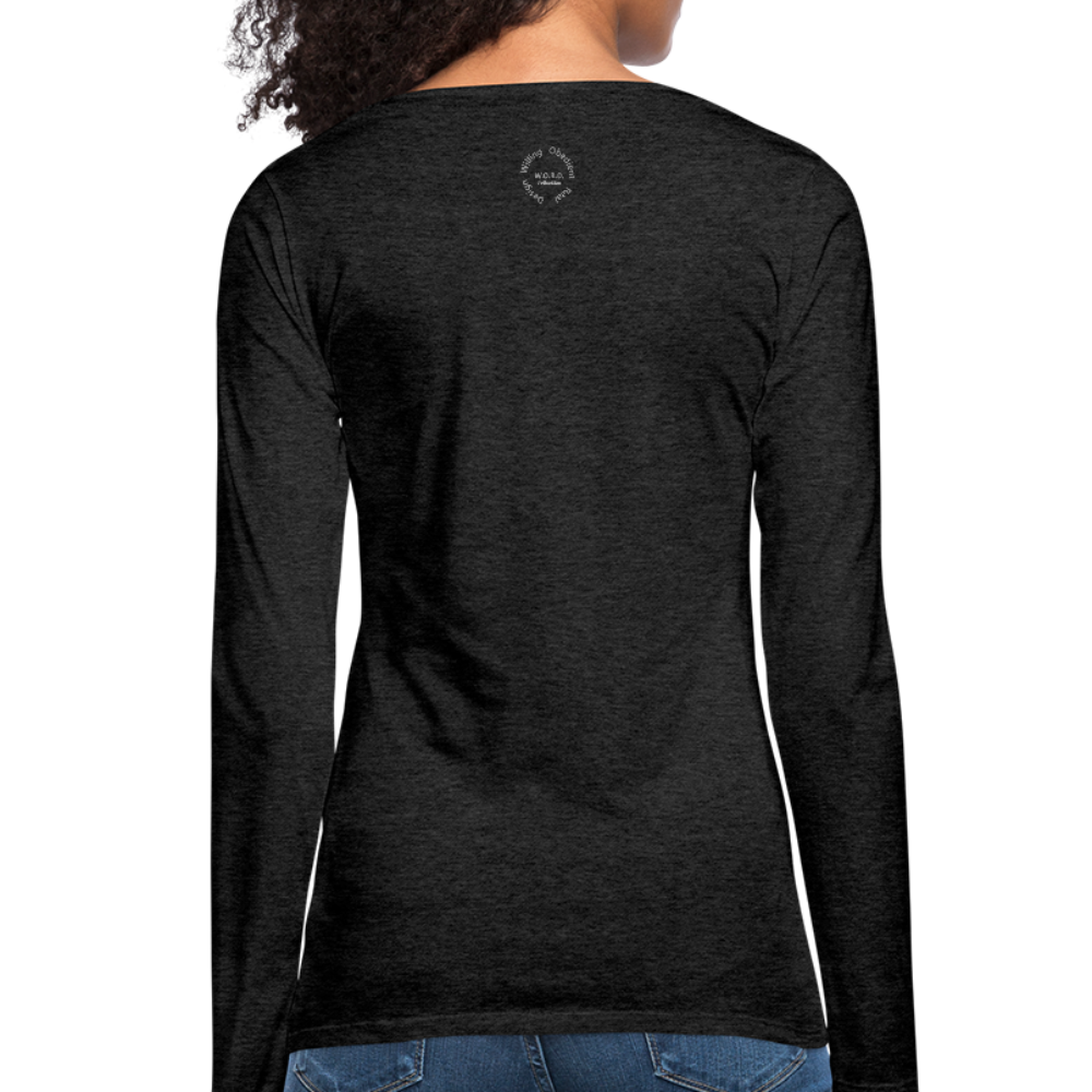 That One Women's Premium Slim Fit Long Sleeve T-Shirt - charcoal gray