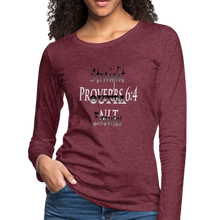 Load image into Gallery viewer, Straight Outta Excuses Women's Premium Slim Fit Long Sleeve T-Shirt - heather burgundy
