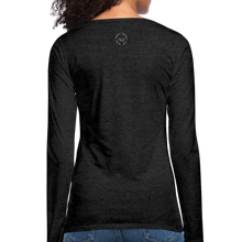 Load image into Gallery viewer, Straight Outta Excuses Women's Premium Slim Fit Long Sleeve T-Shirt - charcoal gray