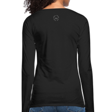 Load image into Gallery viewer, Black Goodness Women's Premium Slim Fit Long Sleeve T-Shirt - black