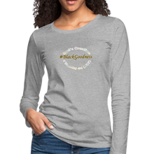 Load image into Gallery viewer, Black Goodness Women's Premium Slim Fit Long Sleeve T-Shirt - heather gray