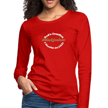 Load image into Gallery viewer, Black Goodness Women's Premium Slim Fit Long Sleeve T-Shirt - red