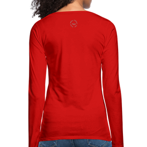 Black Goodness Women's Premium Slim Fit Long Sleeve T-Shirt - red