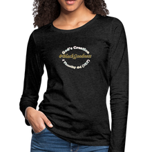 Load image into Gallery viewer, Black Goodness Women's Premium Slim Fit Long Sleeve T-Shirt - charcoal gray