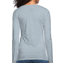 Load image into Gallery viewer, Black Goodness Women's Premium Slim Fit Long Sleeve T-Shirt - heather ice blue