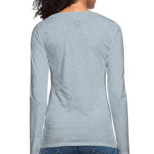 Black Goodness Women's Premium Slim Fit Long Sleeve T-Shirt - heather ice blue