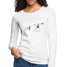 Load image into Gallery viewer, Amari Women's Premium Slim Fit Long Sleeve T-Shirt - white