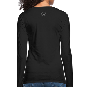 Amari Women's Premium Slim Fit Long Sleeve T-Shirt - black