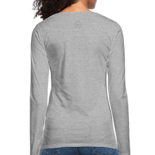 Load image into Gallery viewer, Amari Women's Premium Slim Fit Long Sleeve T-Shirt - heather gray