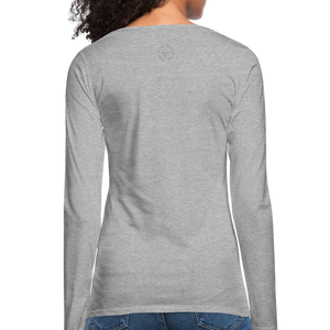 Amari Women's Premium Slim Fit Long Sleeve T-Shirt - heather gray