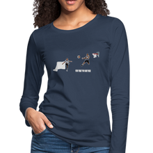 Load image into Gallery viewer, Amari Women's Premium Slim Fit Long Sleeve T-Shirt - navy