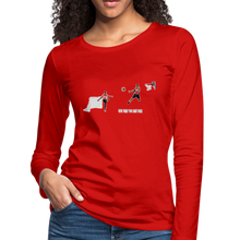 Load image into Gallery viewer, Amari Women's Premium Slim Fit Long Sleeve T-Shirt - red