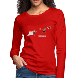 Amari Women's Premium Slim Fit Long Sleeve T-Shirt - red