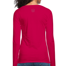 Load image into Gallery viewer, Amari Women's Premium Slim Fit Long Sleeve T-Shirt - dark pink