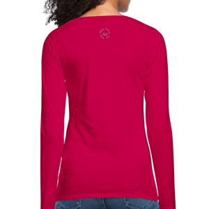 Amari Women's Premium Slim Fit Long Sleeve T-Shirt - dark pink