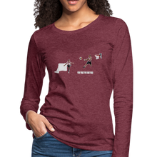 Load image into Gallery viewer, Amari Women's Premium Slim Fit Long Sleeve T-Shirt - heather burgundy