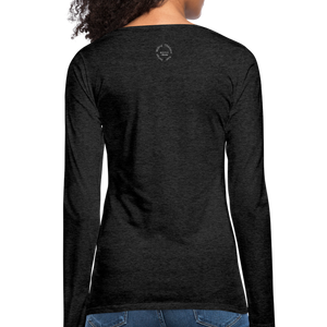Amari Women's Premium Slim Fit Long Sleeve T-Shirt - charcoal gray