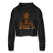 Load image into Gallery viewer, Proverbs 31 Locs  Cropped Hoodie - deep heather