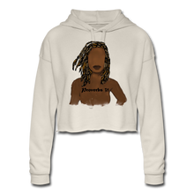 Load image into Gallery viewer, Proverbs 31 Locs  Cropped Hoodie - dust
