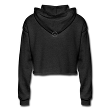 Load image into Gallery viewer, Black Goodness Cropped Hoodie - deep heather
