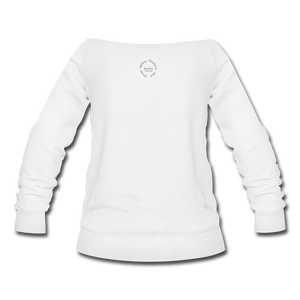 Proverbs 31 Locs Wideneck Sweatshirt - white