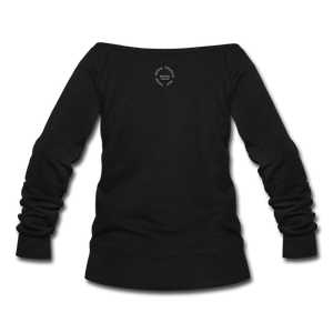 Proverbs 31 Locs Wideneck Sweatshirt - black
