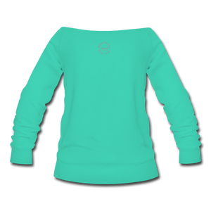 Proverbs 31 Locs Wideneck Sweatshirt - teal