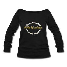 Load image into Gallery viewer, Black Goodness Wideneck Sweatshirt - black