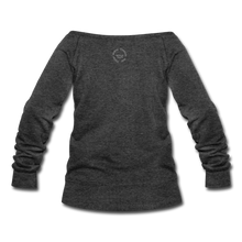 Load image into Gallery viewer, Black Goodness Wideneck Sweatshirt - heather black