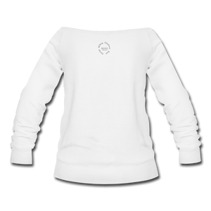 Proverbs 31 Loc Lady Wideneck Sweatshirt - white