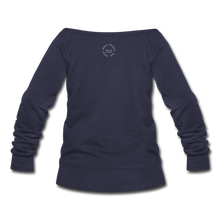 Load image into Gallery viewer, Proverbs 31 Loc Lady Wideneck Sweatshirt - melange navy