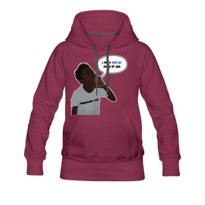 Kingston Women's Premium Hoodie - burgundy